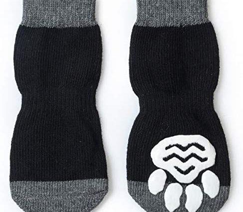 Pet Heroic Chaussettes Antidérapantes 8 Tailles pour Chien et Chat - Protège les pattes de l'animal et les sols intérieurs, avec patins en caoutchouc, convient pour les petits ou gros chiens et chats