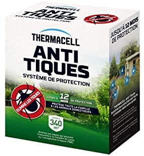 Thermacell THTICK8 Anti-TIQUES-8 Tubes pour 340 M², 8tubes