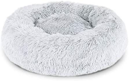 lionto by dibea Panier rond pour chien coussin pour chat panier donut Ø 100 cm (3XL) Gris clair