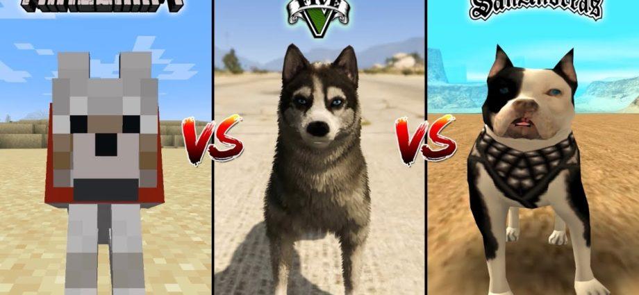 CHIEN MINECRAFT VS CHIEN GTA 5 VS CHIEN GTA SAN ANDREAS - QUI EST LE MEILLEUR ?
