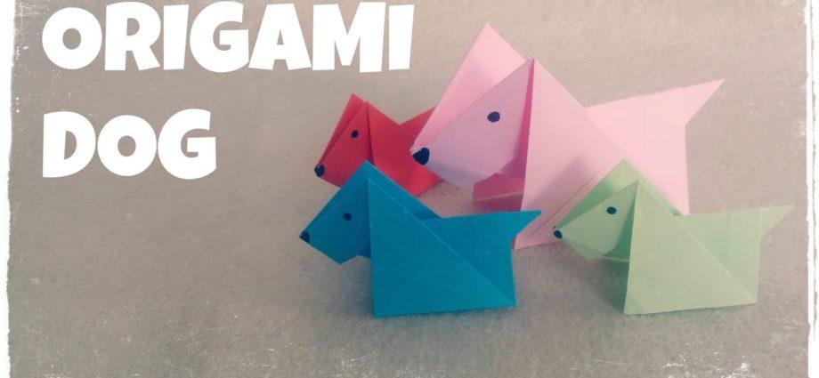 Origami pour les enfants - Tutoriel d'origami pour chien (très facile)