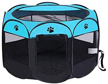 Wiiguda@Gran Parque para Animales para Dentro o afuera, Parque Mascota de Juego Entrenamiento Dormitorio, Parque para Cachorros recinto Parque para Animales Perros Gatos, tamaño L: 91X91X58cm.