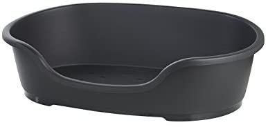 Flamingo Pet Bed Domus Panier pour Chien Noir 70/80 cm