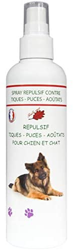 Feuille rouge - Spray Anti puces et Aoutas - Ballade - 250 ML - Chiens - Chats