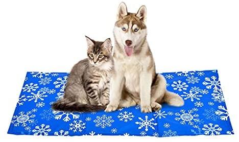 YGJT Tapis de Refroidissement pour Chiens Grande/XL et Chats - Non Toxique - Coussin Rafraîchissant pour Les Animaux Domestiques (L(50x90cm))