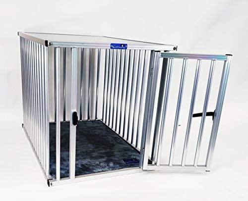 Callieway® ALU DOGBOX/Cage à Chien en Aluminium pour Le Bureau ou la Maison (Barres Verticales Uniquement) (L=79(L) x58(l) x65cm(h))
